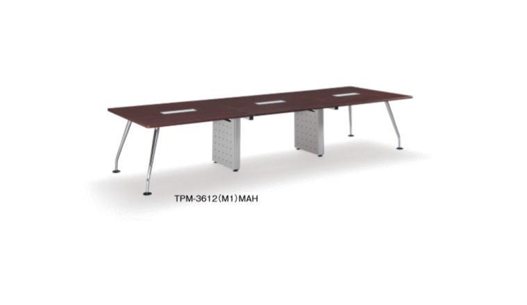 アイコ TPMテーブル 会議用テーブル ケーブル収納ボックス コードホール付き 幅3600