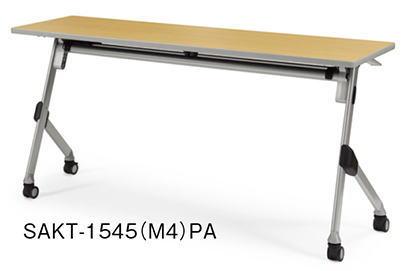 アイコ SAKTテーブル 会議用テーブル 棚付き パネルなしタイプ W1500×D450