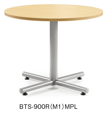 会議用テーブル BTWテーブル アイコ シルバー塗装 H720mmタイプ Φ900