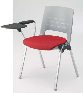 okamura エレナ 4本脚 テーブル付き 背カバーなしミーティングチェア