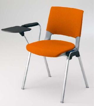 【未使用品】 ミーティングチェア 岡村製作所 エレナ 4本脚 テーブル付き 背カバー付き, Ma kai 741f5215