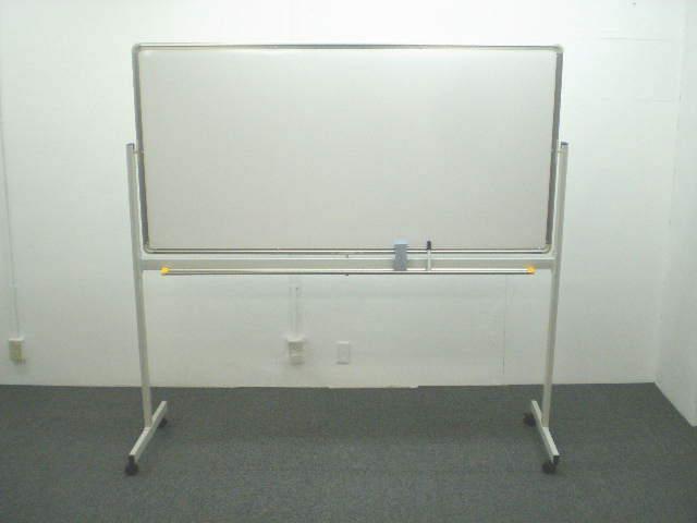 ホワイトボード ホーロー・スチール W1800 脚付き 【両面】 (輸入品)