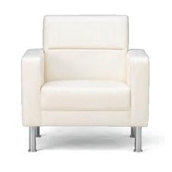 アイコ 新品 プレッグ 1人用椅子【ビニールレザー】アイボリー