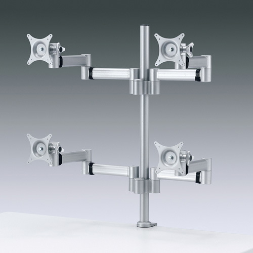 水平アーム 4面用 モニタースタンド 水平多関節液晶モニターアーム モニタ用