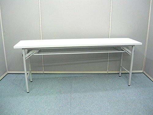 幅1800×450 折りたたみテ-ブル棚付き ホワイト