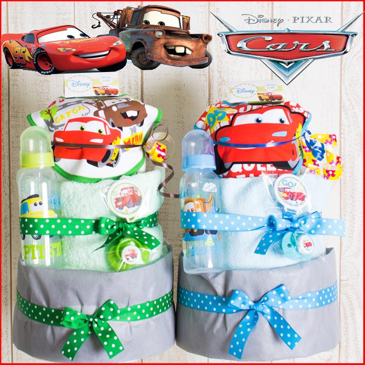 おむつケーキ 男の子 出産祝い カーズ Cars 3段オムツケーキ 車【送料無料】