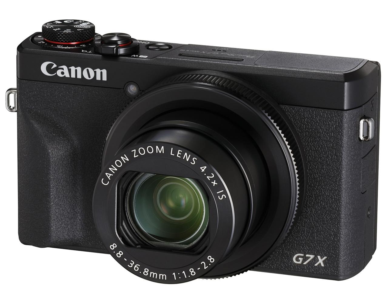 Canon PowerShot G7 X Mark III [ブラック]【お取り寄せ商品(3週間~4週間程度での入荷、発送)】