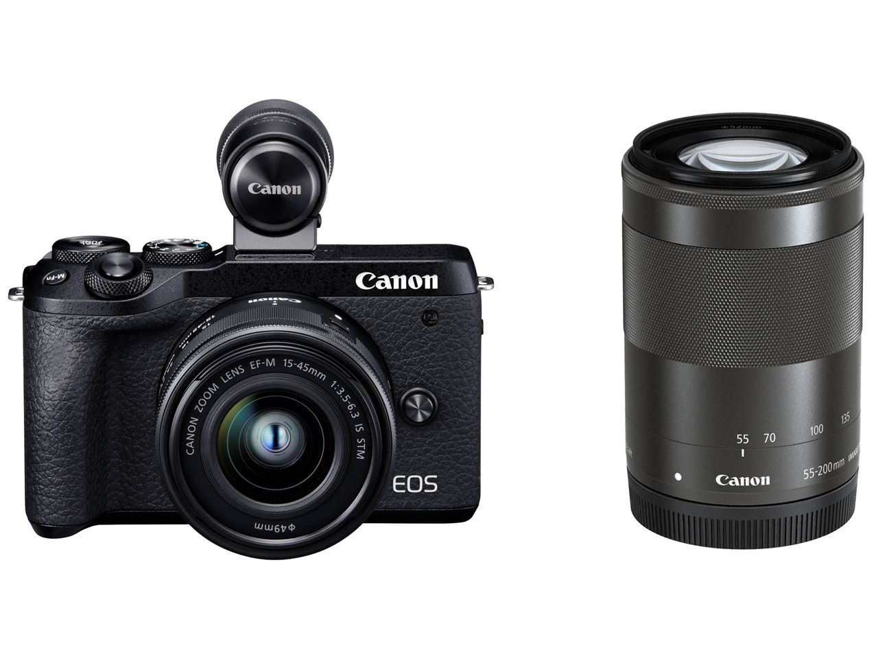 Canon EOS M6 Mark II ダブルズームEVFキット [ブラック]【お取り寄せ商品(3週間~4週間程度での入荷、発送)】