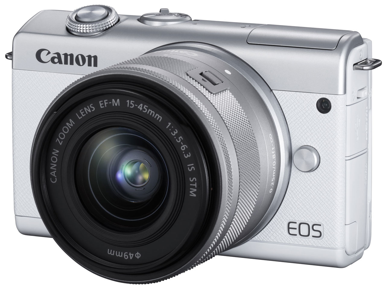 CANON EOS M200 EF-M15-45 IS STM レンズキット [ホワイト]【お取り寄せ(メーカー取り寄せ/予約受付中)】※1~2ヶ月