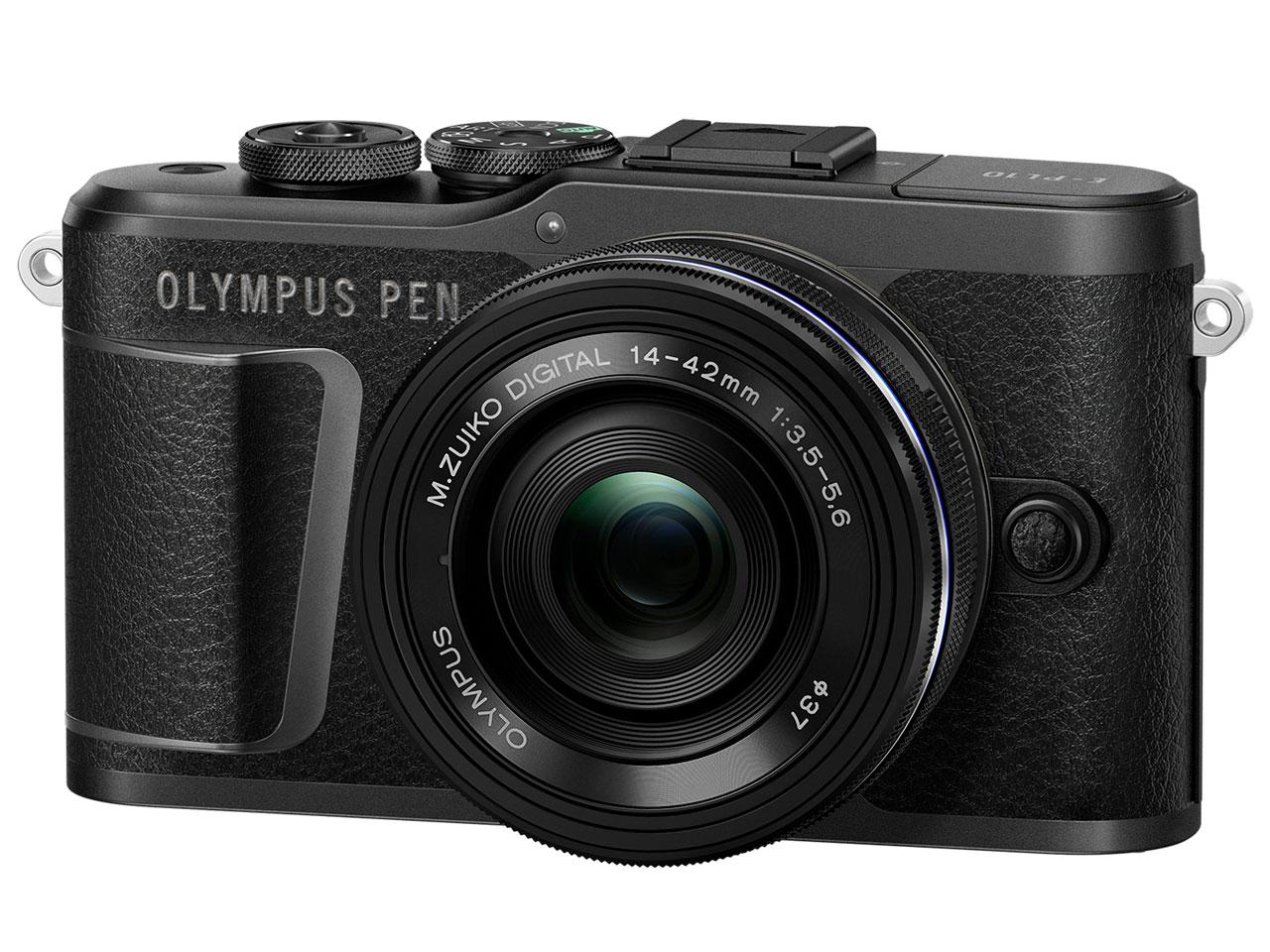 OLYMPUS PEN E-PL10 14-42mm EZレンズキット [ブラック]【お取り寄せ商品(3週間~4週間程度での入荷、発送)】