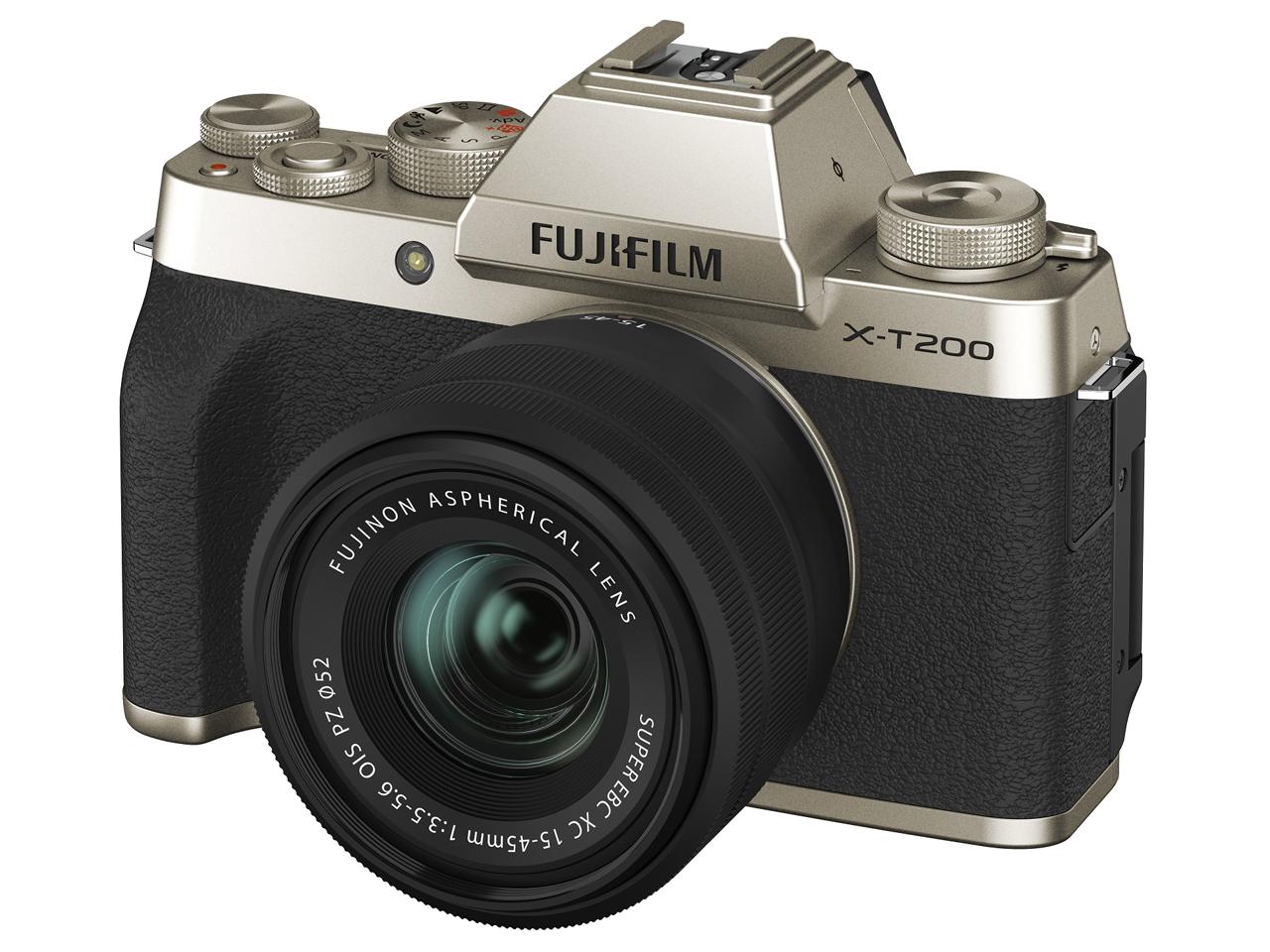 FUJIFILM X-T200 ダブルズームレンズキット [シャンパンゴールド]【お取り寄せ商品(3週間~4週間程度での入荷、発送)】