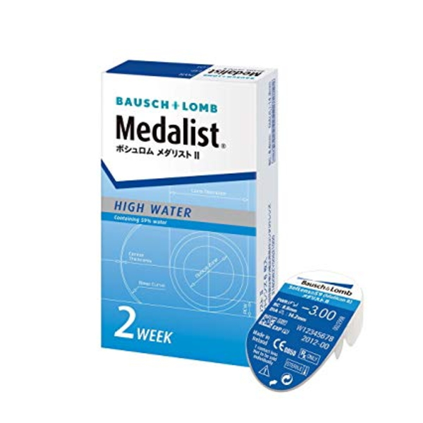 Prescription no Bausch & Lomb 2 week 2 week softens medalist 2 1 box 6  pieces into two weeks disposable clear contact lenses BC8.6 (contact  lenses) ...