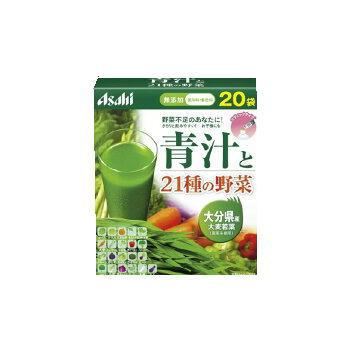 アサヒフードアンドヘルスケア 青汁と21種の野菜3.3g×40包6箱セット(国産大麦若葉使用) 朝しみこむ力