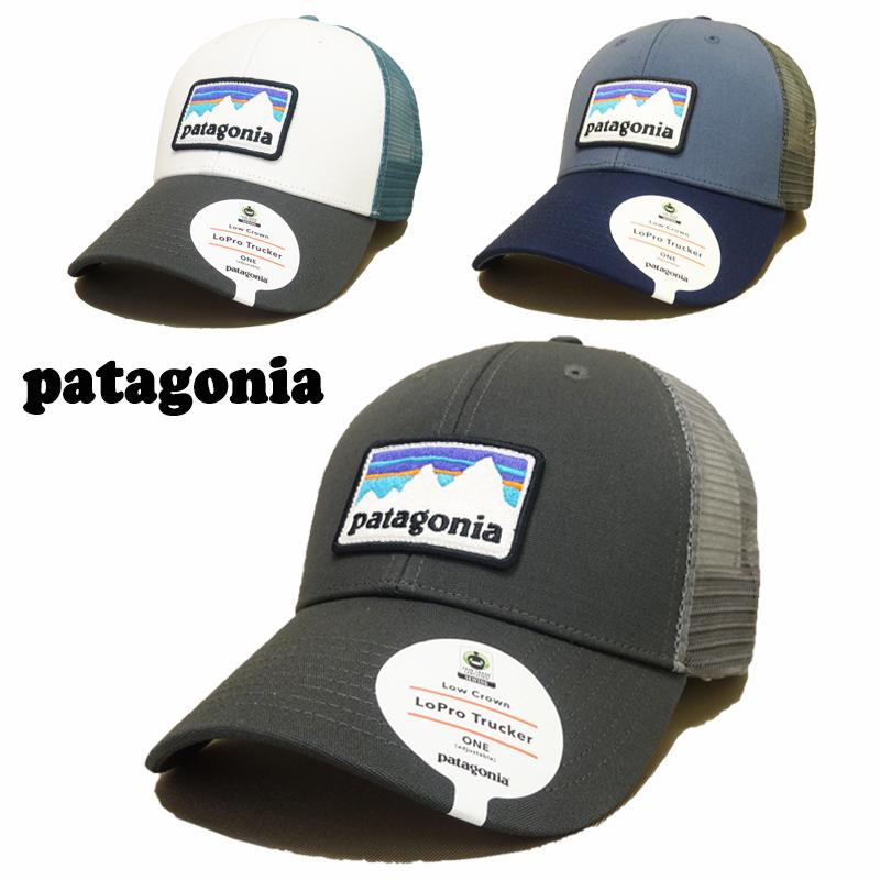 【あす楽】 Patagonia SHOP STICKER PATCH LOPRO TRUCKER HAT - 38182 / Mesh Cap (メッシュキャップ) / スナップバック / 帽子 /adjustable