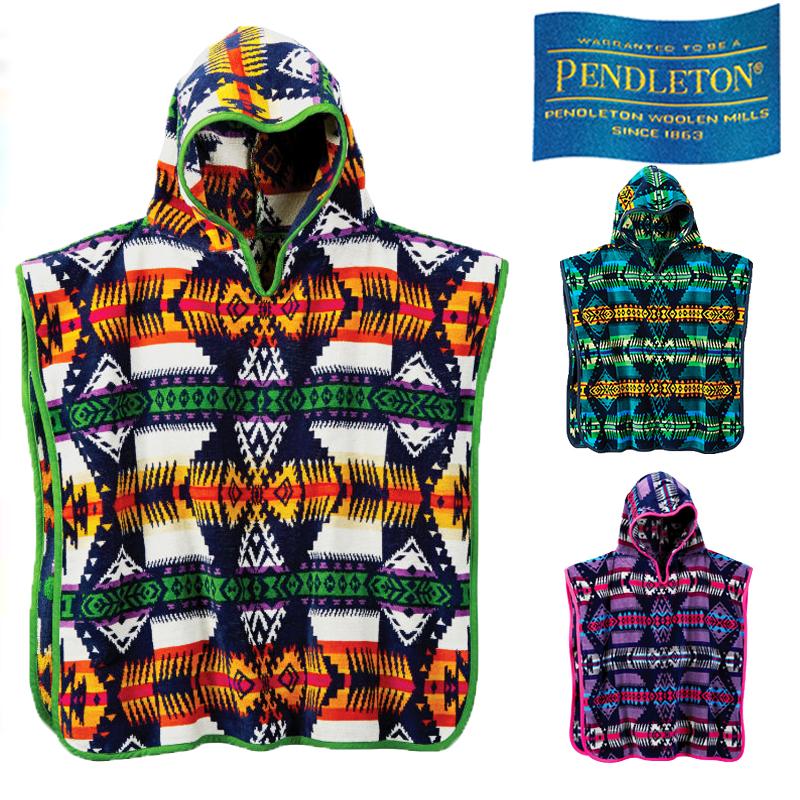 【あす楽】PENDLETON EAGLE ROCK JACQUARD HOODED TOWEL / XB243 / ペンドルトン / ジャガード フーデッドタオル / Baby Towel / 子供向け / フード付きタオル / ポンチョ