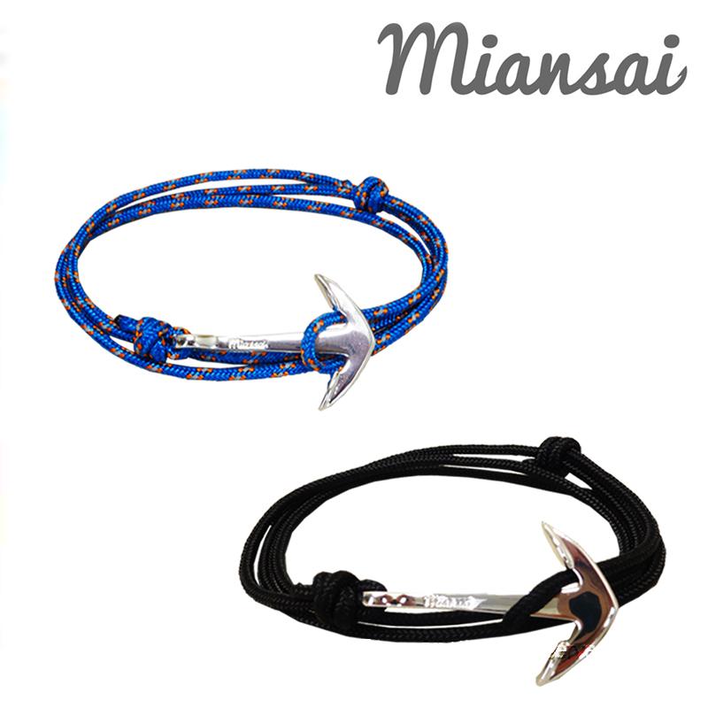 あす楽【ユニセックス】【専用袋付き】Miansai(ミアンサイ) Silver Tone Anchor Rope Bracelet ブレスレット MB00002S