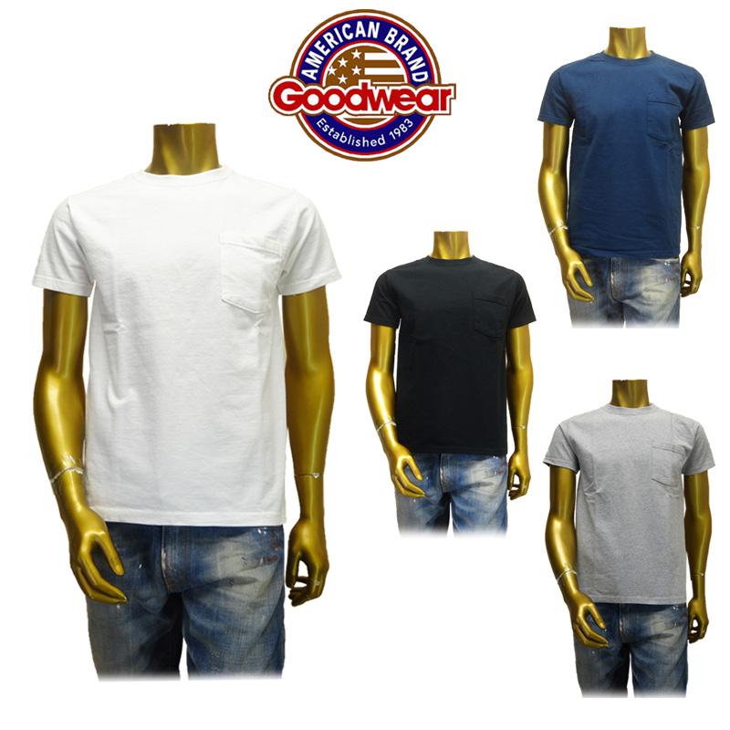 【あす楽】Goodwear(グッドウェア)S/S Slim Fit POCKET T-Shirt/スリムフィット ポケットTシャツ/半袖 (GDW-001-161005/GDW-001-171005/GDW-001-181006/GDW-001-191014) (CREW NECK/クールネック)