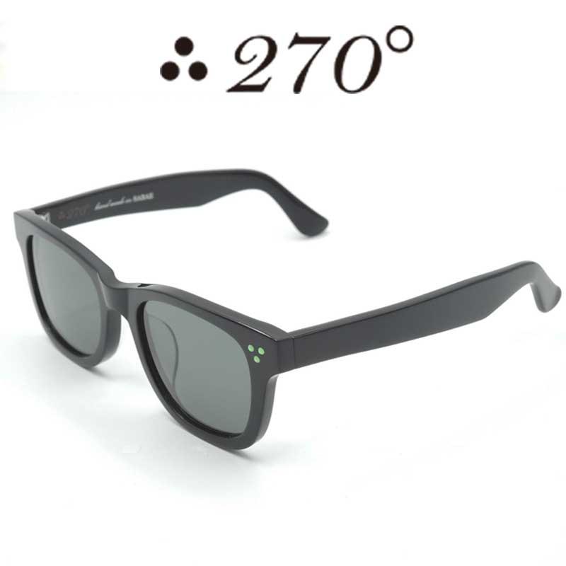 【あす楽】 270°メガネ / two-seventy degrees / 眼鏡 / 伊達メガネ / サングラス / ウエリントン / LAX-BLK-BLK-GRN / 専用ケース付 /【送料無料】