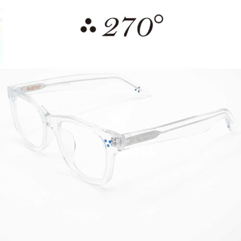【あす楽】 270°メガネ / two-seventy degrees / 眼鏡 / 伊達メガネ / サングラス / ウエリントン / LAX-CLR-CLR-BLU / 専用ケース付 /【送料無料】
