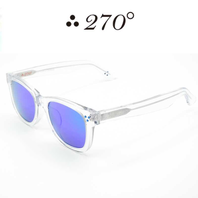 【あす楽】 270°メガネ / two-seventy degrees / 眼鏡 / 伊達メガネ / サングラス / ウエリントン / LAX-CLR-BLUMIRROR-BLU / 専用ケース付 /【送料無料】