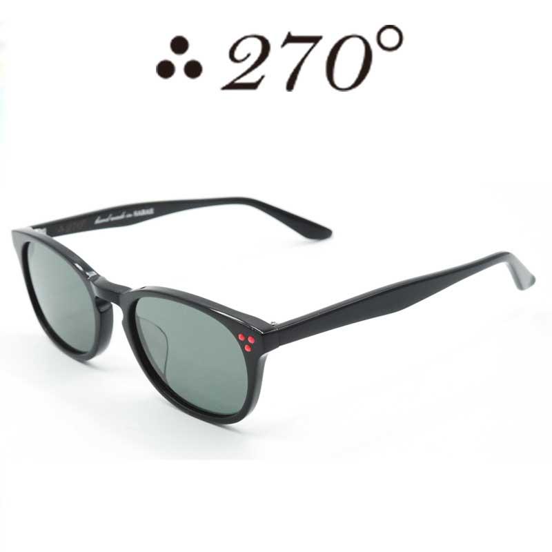 【あす楽】 270°メガネ / two-seventy degrees / 眼鏡 / 伊達メガネ / サングラス / HNL-BLK-BLK-RED / 専用ケース付 /【送料無料】