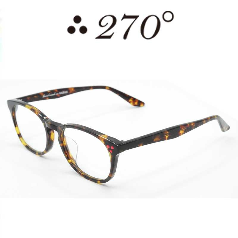 【あす楽】 270°メガネ / two-seventy degrees / 眼鏡 / 伊達メガネ / サングラス / HNL-BRNDEMI-CLR-RED / 専用ケース付 /【送料無料】
