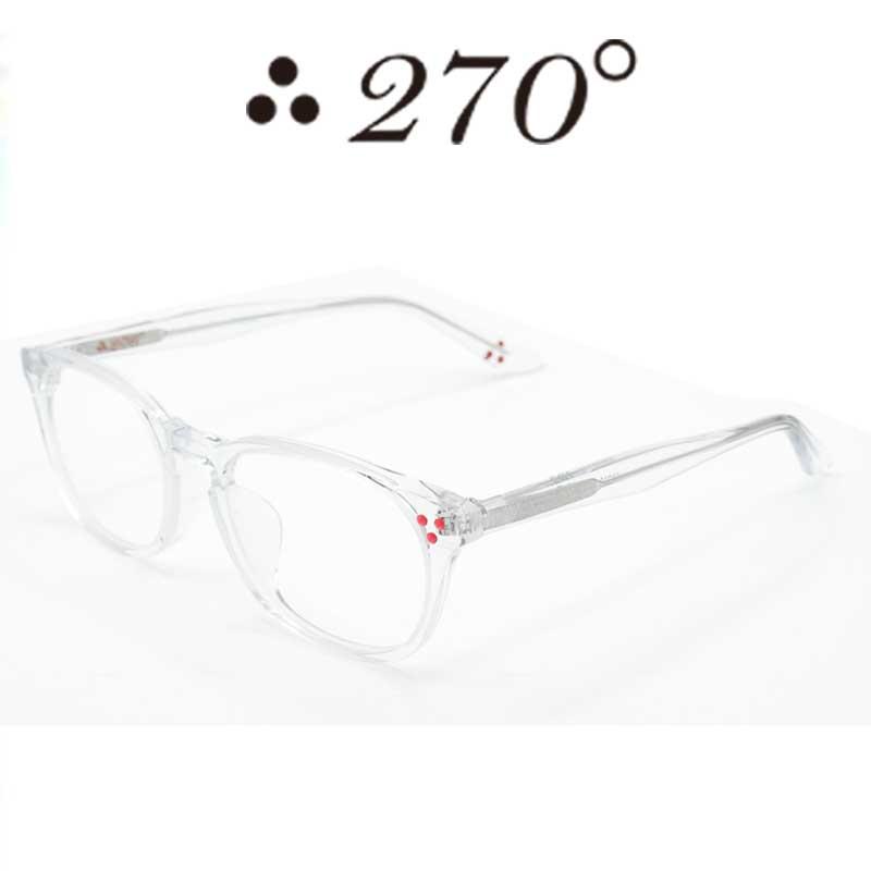 【あす楽】 270°メガネ / two-seventy degrees / 眼鏡 / 伊達メガネ / サングラス / HNL-CLR-CLR-RED / 専用ケース付 /【送料無料】