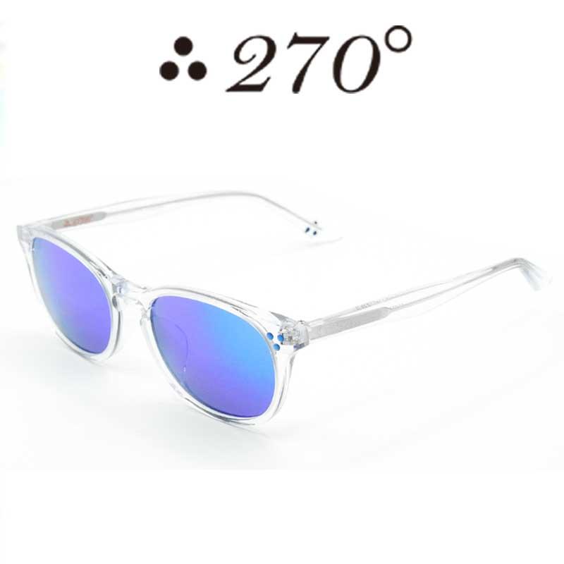 【あす楽】 270°メガネ / two-seventy degrees / 眼鏡 / 伊達メガネ / サングラス / HNL-CLR-BLUMIRROR-BLU / 専用ケース付 /【送料無料】