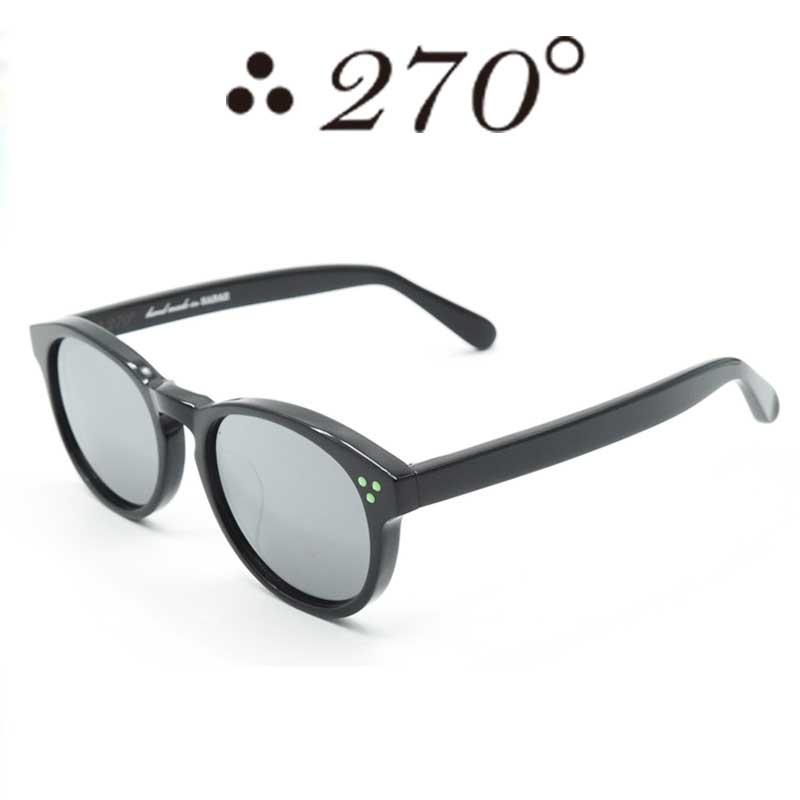 【あす楽】 270°メガネ / two-seventy degrees / 眼鏡 / 伊達メガネ / サングラス / DPS-BLK-BLKMIRROR-GRN / 専用ケース付 /【送料無料】