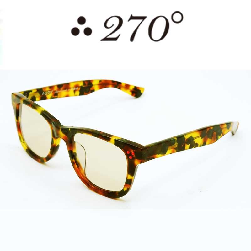 【あす楽】 270°メガネ / two-seventy degrees / 眼鏡 / 伊達メガネ / サングラス / ウエリントン / LAX-CAMO-BRN-RED / 専用ケース付 /【送料無料】