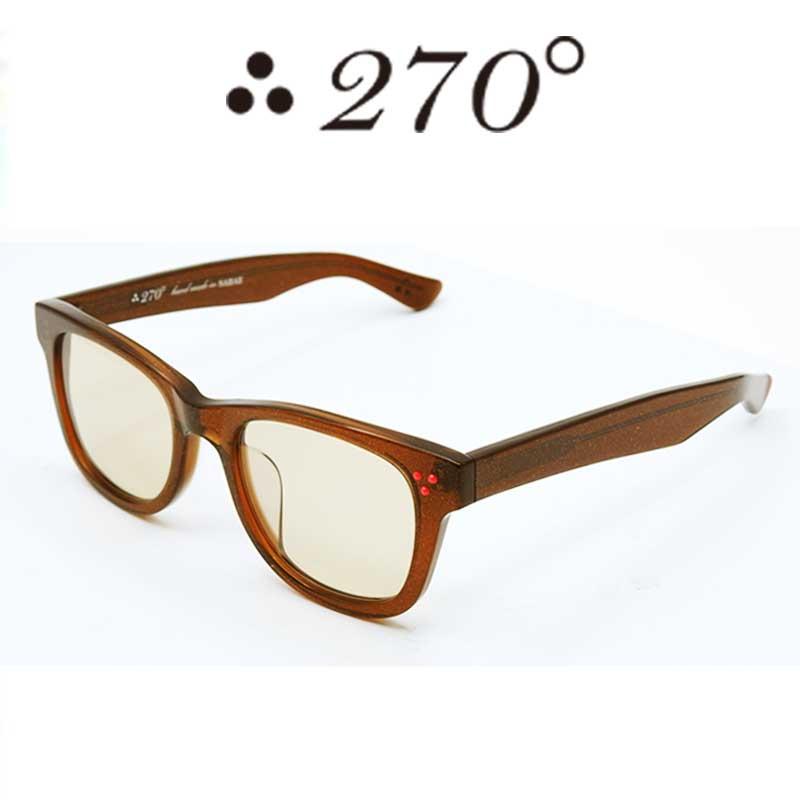 【あす楽】 270°メガネ / two-seventy degrees / 眼鏡 / 伊達メガネ / サングラス / ウエリントン / LAX-BRNGOLD-BRN-RED / 専用ケース付 /【送料無料】