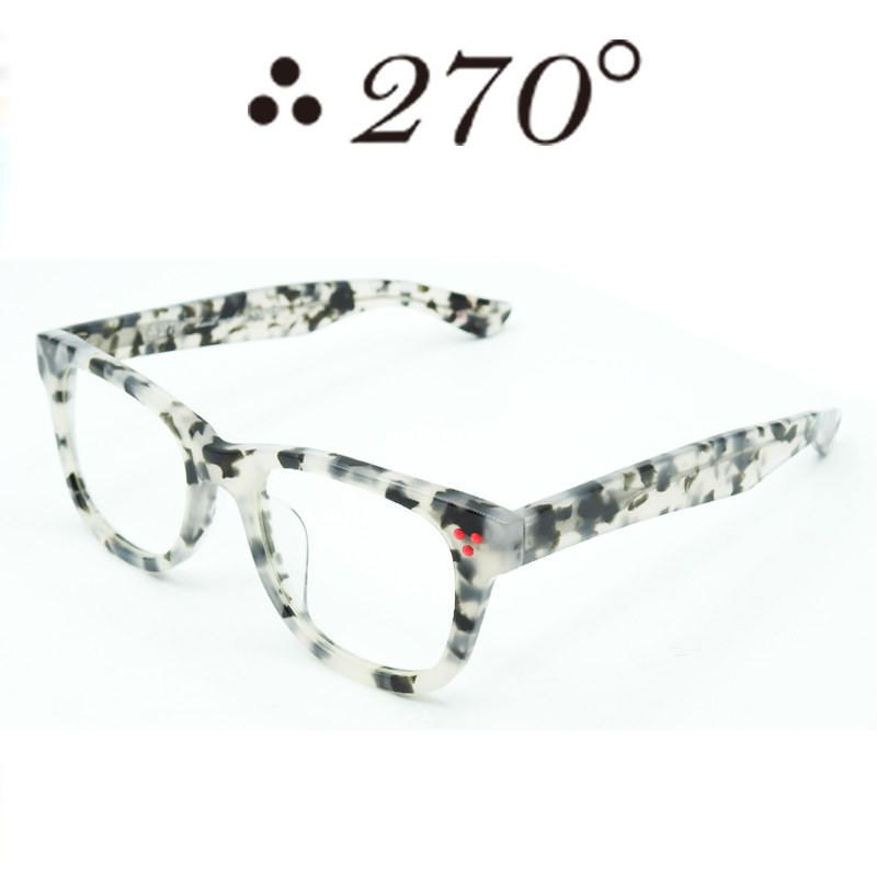 【あす楽】 270°メガネ / two-seventy degrees / 眼鏡 / 伊達メガネ / サングラス / ウエリントン / LAX-DALMATIAN-CLR-RED / 専用ケース付 /【送料無料】
