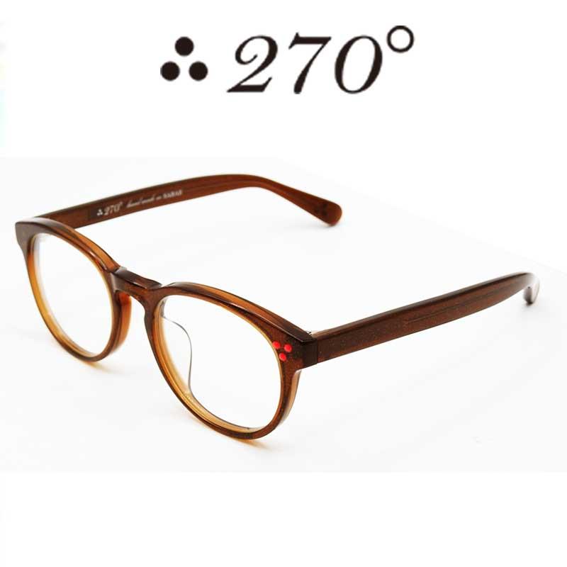 【あす楽】 270°メガネ / two-seventy degrees / 眼鏡 / 伊達メガネ / サングラス / DPS-BRNGOLD-CLR-RED / 専用ケース付 /【送料無料】
