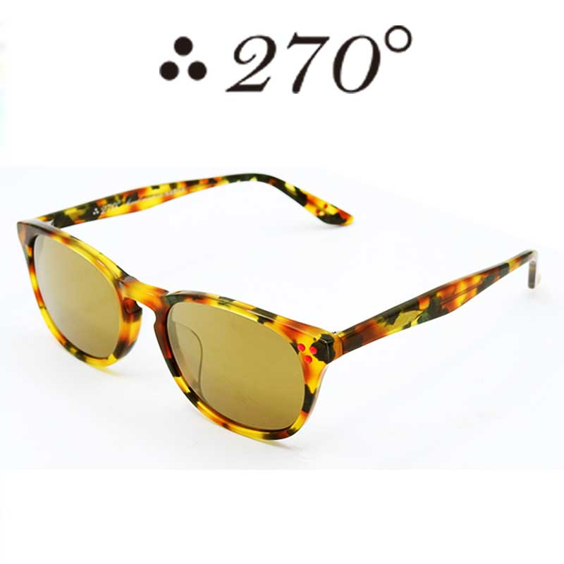 【あす楽】 270°メガネ / two-seventy degrees / 眼鏡 / 伊達メガネ / サングラス / HNL-CAMO-GOLDMIRROR-RED / 専用ケース付 /【送料無料】