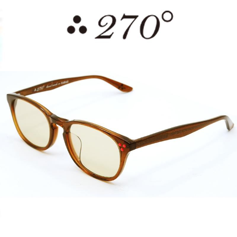 【あす楽】 270°メガネ / two-seventy degrees / 眼鏡 / 伊達メガネ / サングラス / HNL-BRNGOLD-BRN-RED / 専用ケース付 /【送料無料】