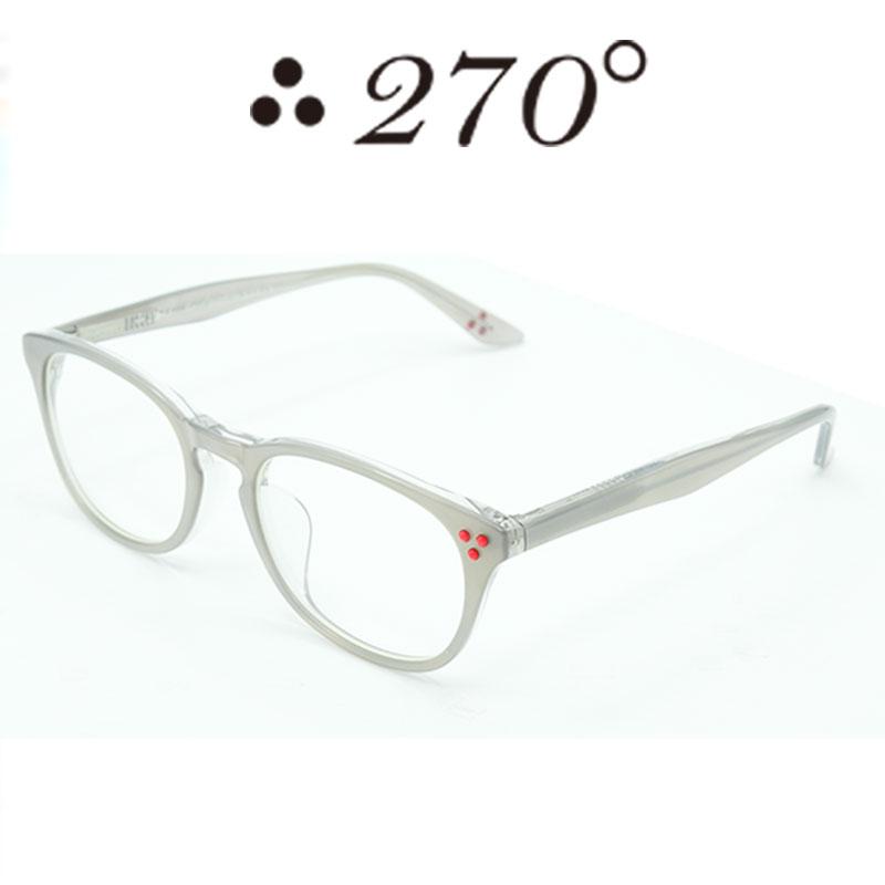 【あす楽】 270°メガネ / two-seventy degrees / 眼鏡 / 伊達メガネ / サングラス / HNL-STEEL-CLR-RED / 専用ケース付 /【送料無料】