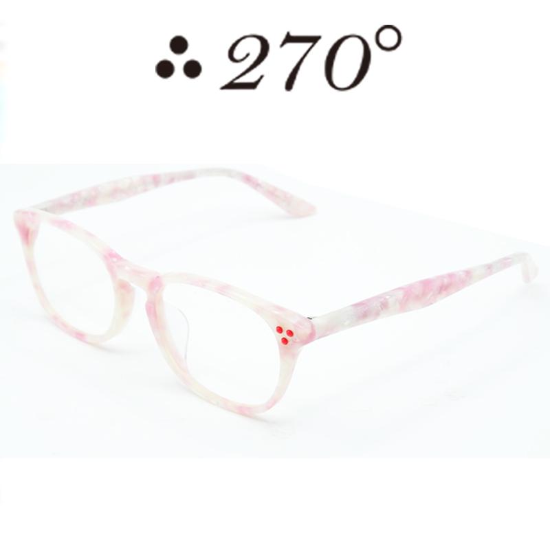 【あす楽】 270°メガネ / two-seventy degrees / 眼鏡 / 伊達メガネ / サングラス / HNL-WHT PNK SHELL-CLR-RED / 専用ケース付 /【送料無料】
