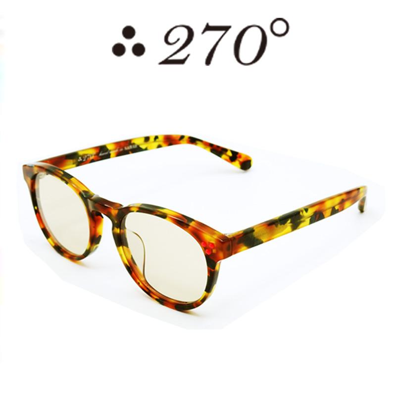 【あす楽】 270°メガネ / two-seventy degrees / 眼鏡 / 伊達メガネ / サングラス / DPS-CAMO-BRN-RED / 専用ケース付 /【送料無料】