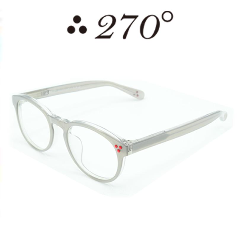 【あす楽】 270°メガネ / two-seventy degrees / 眼鏡 / 伊達メガネ / サングラス / DPS-STEEL-CLR-RED / 専用ケース付 /【送料無料】