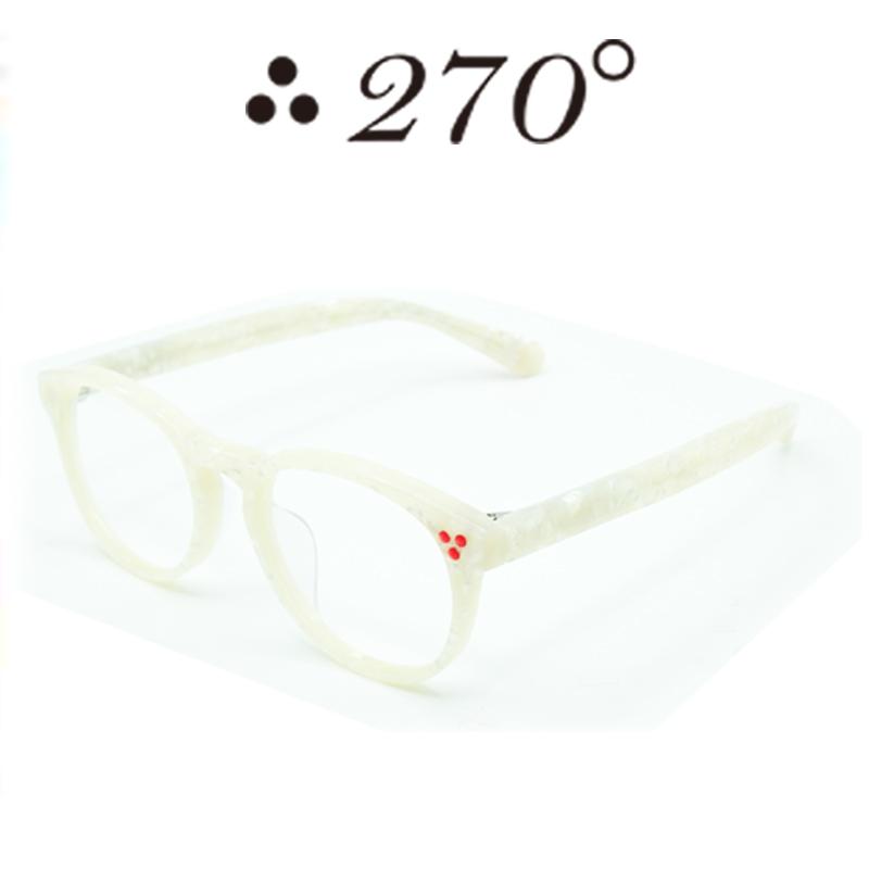 【あす楽】 270°メガネ / two-seventy degrees / 眼鏡 / 伊達メガネ / サングラス / DPS-WHTSHELL-CLR-RED / 専用ケース付 /【送料無料】