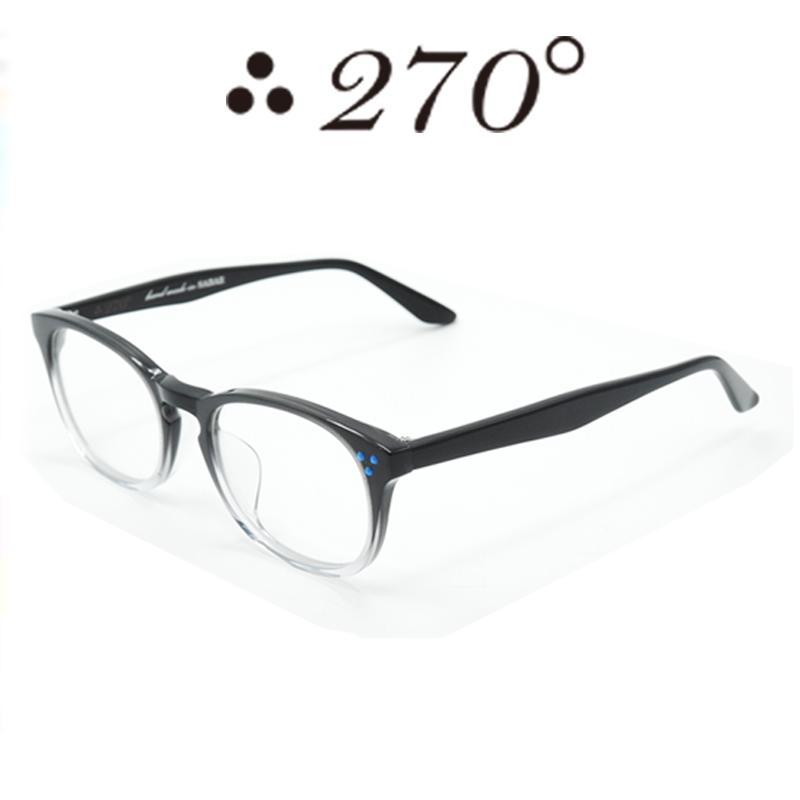 【あす楽】 270°メガネ / two-seventy degrees / 眼鏡 / 伊達メガネ / サングラス / HNL-BLK2TONE-CLR-BLU / 専用ケース付 /【送料無料】