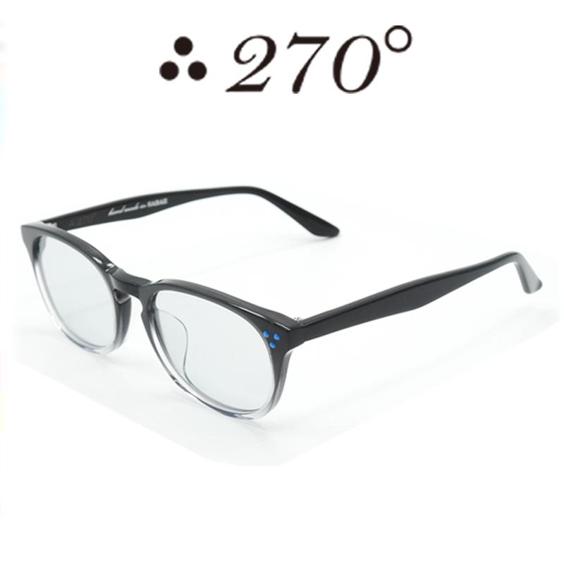 【あす楽】 270°メガネ / two-seventy degrees / 眼鏡 / 伊達メガネ / サングラス / HNL-BLK2TONE-GRY-BLU / 専用ケース付 /【送料無料】