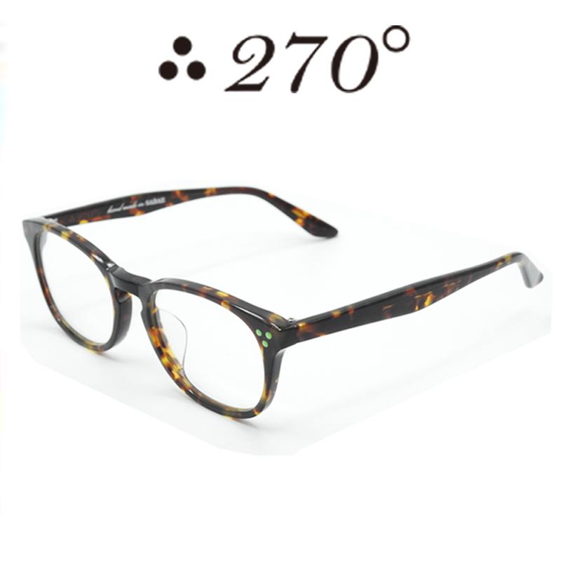 【あす楽】 270°メガネ / two-seventy degrees / 眼鏡 / 伊達メガネ / サングラス / HNL-BRNDEMI-CLR-GRN / 専用ケース付 /【送料無料】