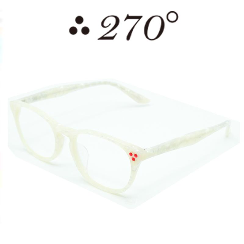 【あす楽】 270°メガネ / two-seventy degrees / 眼鏡 / 伊達メガネ / サングラス / HNL-WHTSHELL-CLR-RED / 専用ケース付 /【送料無料】