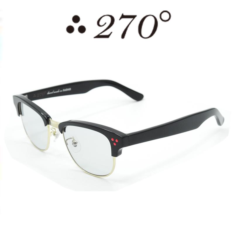 【あす楽】 270°メガネ / two-seventy degrees / 眼鏡 / 伊達メガネ / サングラス / JFK-BLKGLD-GRY-RED / 専用ケース付 /【送料無料】