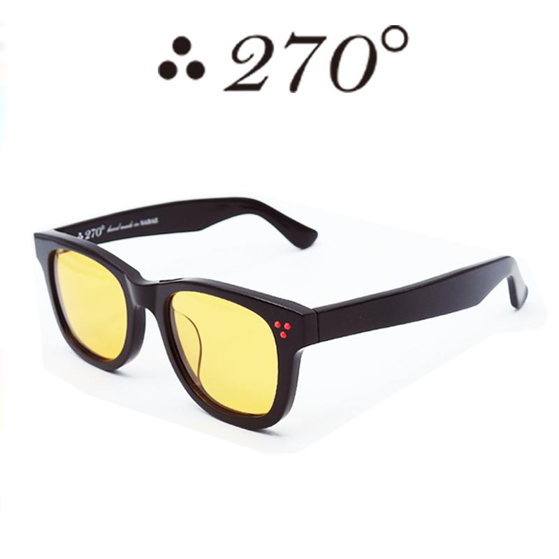 【あす楽】 270°メガネ / two-seventy degrees / 眼鏡 / 伊達メガネ / サングラス / ウエリントン / LAX-BLK-ORG-RED / 専用ケース付 /【送料無料】