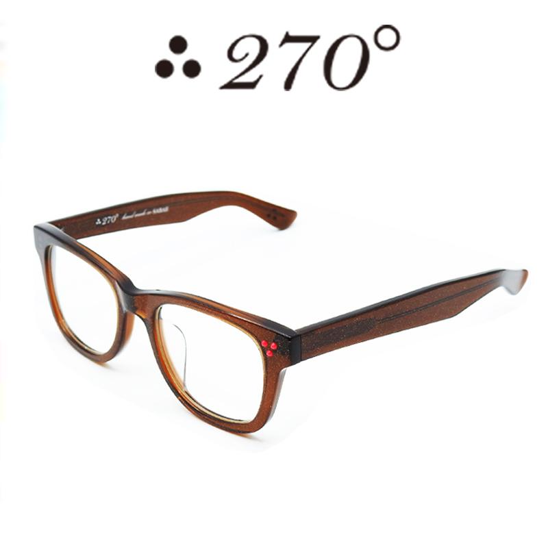 【あす楽】 270°メガネ / two-seventy degrees / 眼鏡 / 伊達メガネ / サングラス / ウエリントン / LAX-BRNGOLD-CLR-RED / 専用ケース付 /【送料無料】