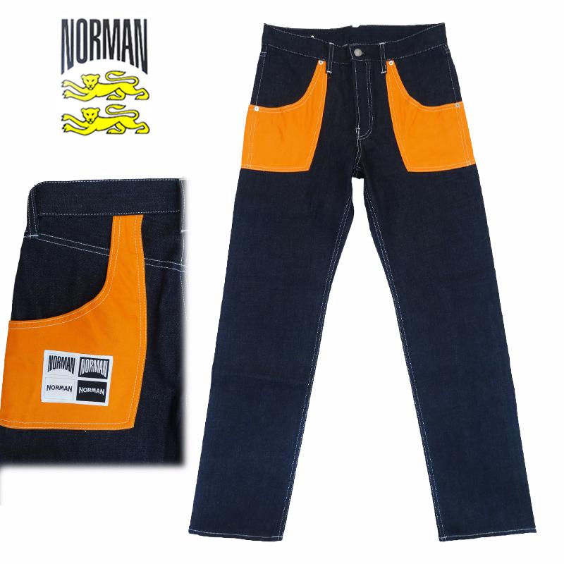 【あす楽】NORMAN MINEDENIM Collaborate Denim Pants / ノルマン / マインデニム / コラボレーション / デニム / メンズ デニム パンツ / 馬場圭介様 / 野口強様 / NOR-0019