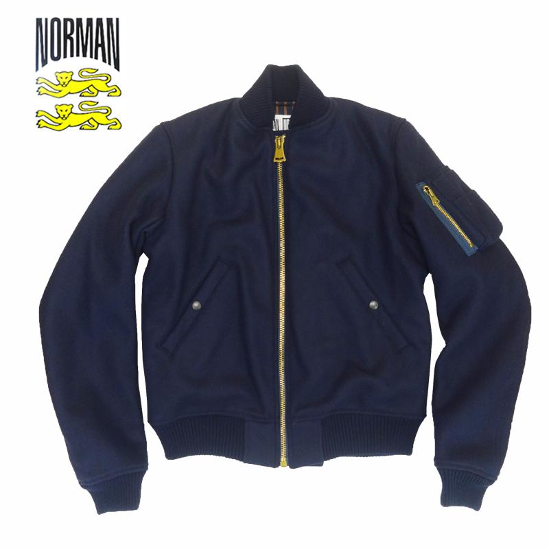 【あす楽】NORMAN Lamb Tas Hard Melton MA-1 Jacket / アウター / ノルマン / 馬場圭介様 / NOR-0053