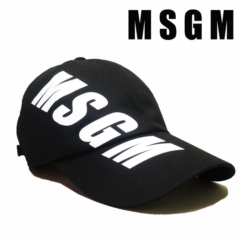 【あす楽】MSGM CAPPELLO / HAT / エムエスジーエム / ハット / LOGO PRINT BASEBALL HAT / CAP / キャップ / 帽子 / 2640ML06 / 195084-99